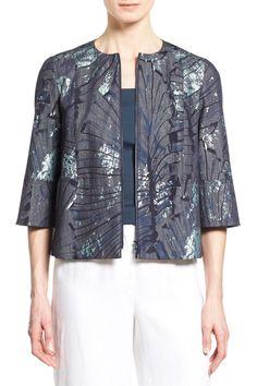 Athea Collarless Crop Jacket by Lafayette 148 New York on @HauteLook