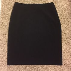 NWT Black Pencil Skirt Ann Taylor Perfect staple piece! Black pencil skirt, knee length, fully lined, back zip Ann Taylor Skirts Pencil