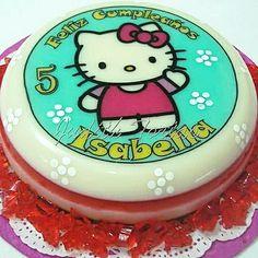 Gelatina Hello Kitty. Por: Judith Tortas.