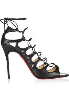 Christian Louboutin Aqueduchesse 100 leather sandals | NET-A-PORTER