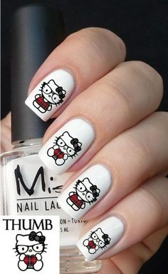 Hello Kitty Nerd Nail Decal Set