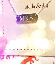 Contact me to order your Stella & Dot engravable necklace! http://www.stelladot.com/sites/christinaryan