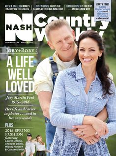 March 28, 2016 – Joey Martin Feek: A Life Well Loved; Joey Martin Feek ultimately lost her battle with cancer at the age of 40.  But her storybook marriage to songwriter husband Rory Lee Feek was a never-ending tale of romance at its most glorious.  In this special section, we pay tribute to Joey's indomitable spirit and celebrate one of country's most inspiring love stories. http://www.countryweekly.com/newsstand/march-28-2016-joey-martin-feek-life-well-loved