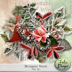 Personal Use :: Kits :: Designer Stash Vol. 38 (CU) by Feli Designs Christmas In July, Christmas Wreaths, Digital Scrapbooking, Holiday Decor, Design, Home Decor, Commercial, Art, Products