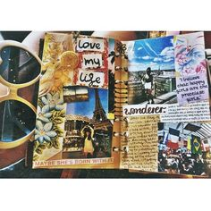 Art and travel journal inspiration - ideas for journaling and scrapbooking