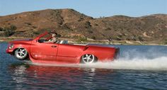 Amphibious Car - This high-performance vehicle drives on land as well as on water.