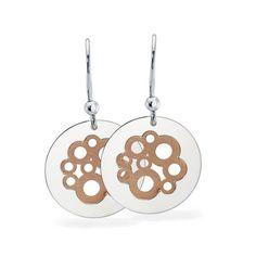 Sterling Silver Bubble Circle Earrings