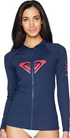 9f884f0ad3db8 Roxy Women s Essential Zip up Hooded Rashguard. Trustamulet · Roxy Women  Long Sleeve Rash Guard