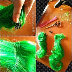 How to make pony tail wig parts? www.senseecosplay.net