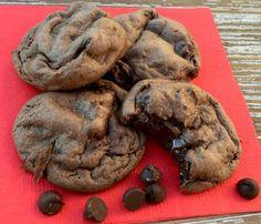 Dark Chocolate Fudge Cake Mix Cookie Recipe from NeverEndingJourneys.com