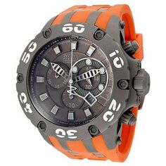Men's Subaqua/Reserve Chronograph Titanium Dial Orange Polyurethane, Grey