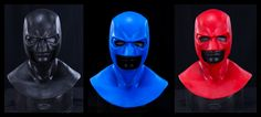 Hero Hood Silicone Mask - Black / Blue / Red.    http://compositeeffects.com/mystore/index.php?route=product/product&path=72_79&product_id=1188