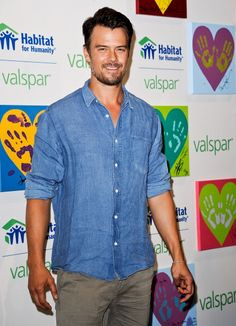 Josh Duhamel at the Habitat for Humanity press day. #Grooming by Kumi Craig. #Styling by Samantha McMillen.