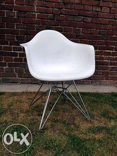Nowoczesne krzesła inspirowane DAR białe i czerwone Nadarzyn - image 1