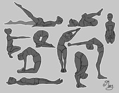 Yoga Poses :) by mary3m.deviantart.com on @DeviantArt