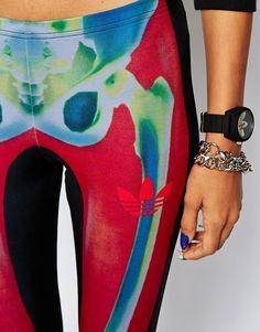 adidas Originals X Rita Ora Leggings In Skeleton