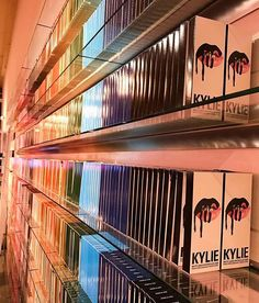@kyliecosmetics: Rainbow wall of lip kits at the KYLIE POP-UP #repost @westfieldtopanga