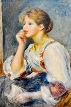 Pierre Auguste Renoir - Femme a la lettre, 1890 at Musée de l'Orangerie Paris France | by mbell1975