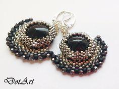 Dorota Walentyn- Goral, #DotArt, #earrings, #beading, #toho, #peyote, #chainmaille,  #polandhandmade, polandhandmade.pl