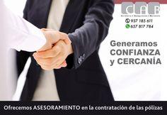 Generamos Confianza y Cercanía con 30 años de experiencia en el sector asegurador.