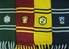 Harry Potter Hogwarts Houses inspired scarf by stuukstly on Etsy, $34.00