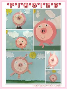 This Little Piggy Bulletin Board of Projects (from Bulletin Board RoundUP via RainbowsWithinReach)