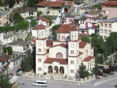During the Communist era many churches in Albania were destroyed. Construction of Saint Demetrius Cathedral in Berat began in 1994 and the church was only consecrated in Albania, Cathedral, Southern, Construction, Mansions, House Styles, Home, Decor, Building