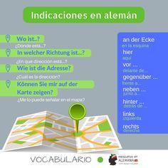 pedir y dar direcciones en Alemán #Vocabulario #MexicanosEnAlemania #Indicaciones
