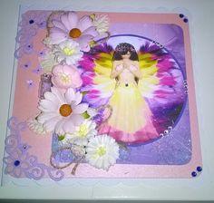 Beautiful Handmade Fairy, butterflies and flowers card £3.00