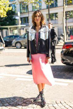 The Best Street Style at Paris Fashion Week - HarpersBAZAAR.com #alexachung #style