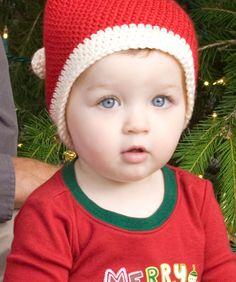 """Free pattern for """"Toddler Santa Hat""""!"""