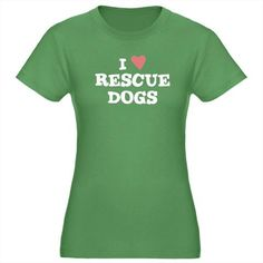 I Love Rescue Dogs T-Shirt by pet_lover_gift