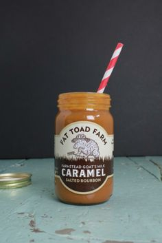 Fat Toad Farm Caramel Sauce. So good you could stick a straw in it. (Original, Salted #Bourbon, Vanilla Bean, Cinnamon) BourbonandBoots.com