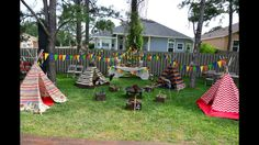Tepee themed birthday party...tepee made from scratch