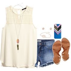 Oorn- dinner with mom and sister by kaley-ii on Polyvore featuring polyvore, fashion, style, H&M, Joie, Kendra Scott, Gemma Crus and J.Crew