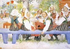 Carl Larsson Kersti-s Birthday