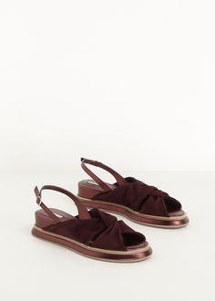fbe403a8492 Totokaelo - Dries Van Noten Burgundy Sling Back Sandal Shoes Sandals