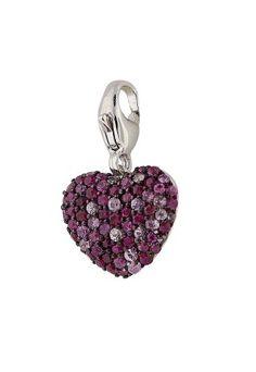 Balissima Splash Pink Sapphire Heart Charm perfect gift for #BackToSchool