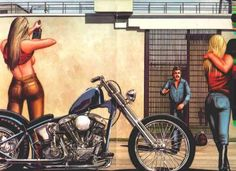 Biker Babes Art by Nicola_R, via Flickr