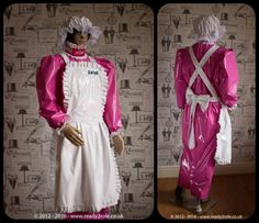 """The """"April"""" Sissy Maid PVC Hobble dress which can be made in your measurements and choice of colours www.ready2role.co.uk"""