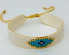 Loom Bracelet Patterns, Bead Loom Bracelets, Beaded Wrap Bracelets, Bead Loom Patterns, Beaded Jewelry Patterns, Ankle Bracelets, Jewelry Design Earrings, Bead Jewellery, Pony Bead Crafts