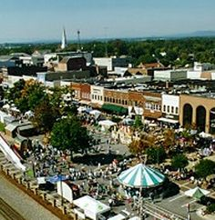 aerial view during Hickory, NC Oktoberfest