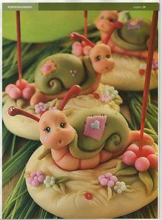улитка,snail, hlemýžď, escargot, Schnecke, lumaca, caracol - Мастер-классы по украшению тортов Cake Decorating Tutorials (How To's) Tortas P...