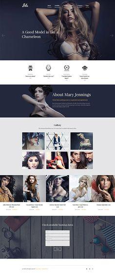 Fashion Model Portfolio Website #Wordpress #template. #themes #business #responsive #Wordpressthemes