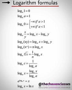 Log Formula, Math Formula Chart, Math Formulas, Differentiation Formulas, Basic Physics Formulas, Geometry Formulas, Math Vocabulary, Math Math, Jewelry Making Tutorials
