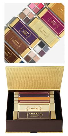Simple and classy #makeup #packaging from #Lorac. They look like a box of chocolate. :)