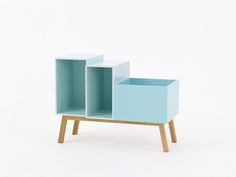 Modular retro sideboard 80 cm in mint with slanted feet Retro Sideboard, Sideboard Buffet, Bedroom Bed, Kids Bedroom, Sofas, Vinyl Record Storage, Design Moderne, Unique Furniture, Building A House