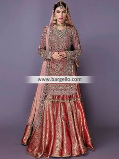 Hoshruba is a collection you will fall in love with. A perfect blend of magnificent colors and classic silhouettes, the latest signature bridal collection by Fahad Hussayn will tell you a tale of pure class and tradition. Asian Bridal Dresses, Bridal Outfits, Indian Dresses, Indian Outfits, Pakistani Wedding Outfits, Pakistani Dress Design, Pakistani Wedding Dresses, Anarkali, Churidar