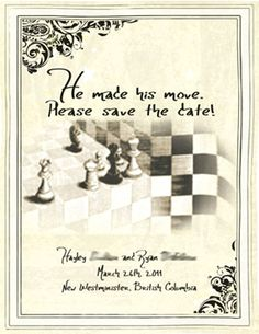 CHESS THEMED SAVE THE DATE!