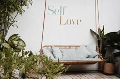 Self-Love Meditation. A powerful practice that can ease a racing mind. By drawing our attention to our innermost self, we find our source of inner peace. Indoor Swing, Porch Swing, Affirmations Positives, Place Holder, Self Compassion, Be Kind To Yourself, Learning To Be, Love Pictures, Beach Pictures